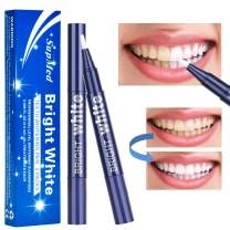 SupMed Teeth Whitening Pen (2 Pack), Safe Carbamide Peroxide Gel, 20+ Uses, No Sensitivity, Travel-Friendly, Easy to Use, Recommend to Use for 2-3 Time Per Day
