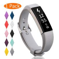 KingAcc Compatible Replacement Bands for Fitbit Alta HR, Fitbit Alta, Silicone Fitbit Alta HR Band Alta Band, Buckle Wristband Strap Women Men Large Small