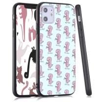 LuGeKe Dinosaur Phone Case for iPhone11 Pro, Cute Animal Patterned Dinosaur Design Case Cover,HardPCBackwithTPUBumperAnti-Stratch Bumper Protective Cute Girls Phonecase(Tea-REX)