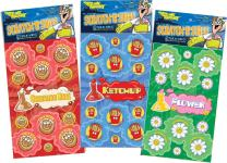 Just For Laughs Dr. Stinky's Scratch N Sniff Stickers 3-Pack- Flower Power, Ketchup, Cinnamon Roll 81 Stickers