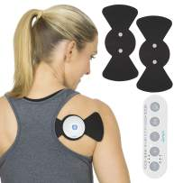 Vive Wireless Tens Unit - Electrode Pad Device - Electric Stimulation Machine - EMS Pain Relief Therapy Nerve Stimulator for Muscles, Back, Tendonitis - Reusable Digital and Portable Electrotherapy