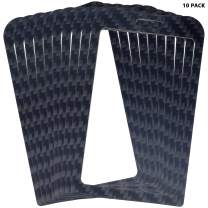 Carbonware A01-10 Carbon Fiber ID IC Badge Holder for Protecting Bank Working Entrance Guard Card, 2 Sides, Fits 2 Cards (10)
