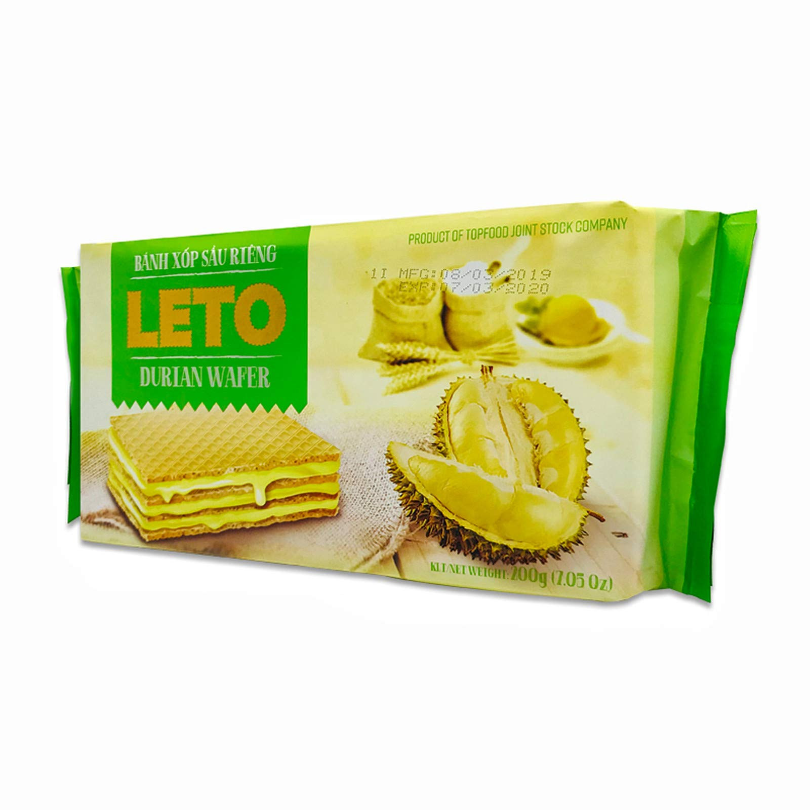 Wafer Cookies, Durian Flavored Biscuits, Ideal Dessert, Snack, Pastry, School Lunches, Family Gathering, Party Snack, Work Lunch, 7.1 oz (pack of 1)