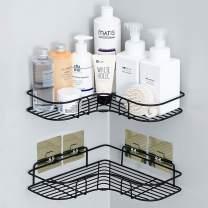 Huryfox 2Pack Corner Shower Caddy Bathroom Shelf, Rust Proof Bathtub Accessories Organizer, Adhesive Basket Storage Rack Shampoo Holder Wall Organization (Large)