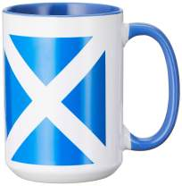 3dRose Mug, 15oz, Blue/White