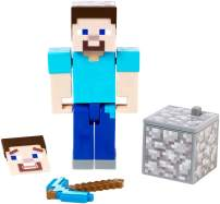 Minecraft 3.25-in Comic Maker Steve Figure, Accessories, and Free Comic Book App, Activity Toy for Boys and Girls Ages 6 and Older, Based on Minecraft Video Game