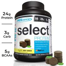 PEScience Select Low Carb Protein Powder, Chocolate Mint Cookie, 55 Serving, Keto Friendly and Gluten Free