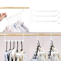 HOUSE DAY White Magic Hangers Space Saving Clothes Hangers Organizer Smart Closet Space Saver Pack of 16 with Sturdy Plastic for Heavy Clothes