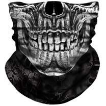 NTBOKW Face Mask for Sun Wind Dust Protection Tube Mask for Men Women Rave Motorcycle Riding Biker Fishing Hunting Festival Outdoor Summer Seamless Bandana Headband Thin 3D Skull Skeleton Flag Camo
