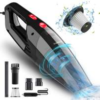 Audew Car Vacuum Cleaner, Portable Vacuum Cleaner for Car, 5500PA High Power Handheld Vacuum, Wet Dry Car Hand Vac DC 12V Corded Vacuum Cleaner