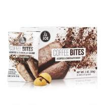 Cafe Joe's Coffee Bites-Energy Chocolate Snacks-Caffeine Snacks-Energy Bar-Box of 10 Packs-Espresso Shot Flavor, Freeze Dried Arabica Coffee-Gluten & Preservative Free, Kosher, Low Carb, Healthy