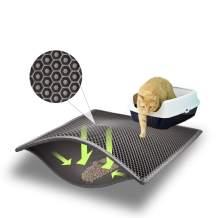 "Asobeage Premium Cat Litter Mat(30""X24"") Litter Trapping Mat, Cat Litter Box Mat Scatter Control,Waterproof Double Layer Honeycomb Design,Easy Clean Washable EVA Material"