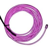 M.best EL Wire Kit Glowing Neon Light with Battery Pack (15FT, Purple)