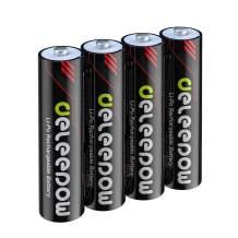 Deleepow Rechargeable AAA Batteries Lithium 1200mWh 1.5V Triple AAA Batteries Rechargeable 1500 Cycles 4-Pack