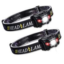 ZUKVYE LED Headlamp Flashlight [2 PACK] - Ultra Bright 160 Lumens White & Red Light, Waterproof Head Light for Running, Camping, Reading- Best Headlight for Adults and Kids