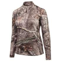 Huntworth Womens Mid Weight Terry Knit ¼ Zip Hunting Pullover