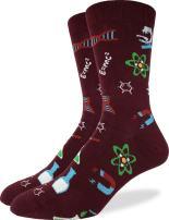 Good Luck Sock Men's Science Lab Crew Socks - Red, Shoe Size 7-12