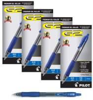 PILOT G2 Premium Refillable & Retractable Rolling Ball Gel Pens, Fine Point, Black Ink, (48-Pack, Blue)