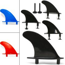 South Bay Board Co. - Universal Soft Top Surfboard Fins - Safe Round-Edged Fins for Foam Surf Boards