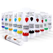 Acrylic Paint Set, 12X12ml Paint for Canvas Painting, Professional Supplies for Kids,Adults, Artists