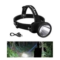 Supfire Spotlight Headlamp,USB Rechargeable Headlamp Waterproof Led Head Torch Long Range Large-scale Headlight,Built-in 18650 Battery,Perfect for Hunting Fishing-3 Mode