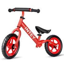 INTEY Ultra-Light Balance Bike,12 Inch No Pedal Kids Bicycle for 2-5 Year Olds, Toddler Balance Bike Made of Aluminium Alloy, Adjustable Height, Anti-Vibration Structure, for Young Kids