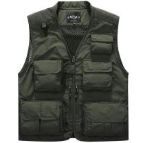 Flygo Men's Summer Outdoor Mesh Fly Fishing Photo Travel Work Vest with Pockets