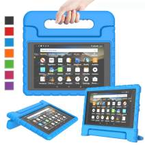 LTROP All-New Fire HD 8 2018/2017 Case - Light Weight Shock Proof Convertible Handle Kid-Proof Cover Kids Case for All-New Fire HD 8 Tablet (8th Gen & 7th Generation, 2017/2018 Release), Blue