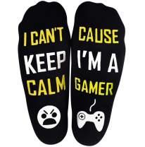 Novelty Cotton Socks Do Not Disturb I'm Gaming Socks Soft Unisex Sock Funny Christmas Great Gifts for Men Women Gamers