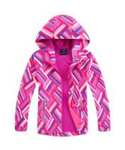 M2C Girls Hooded Waterproof Rain Jacket Windproof Raincoat 10/12 Pink
