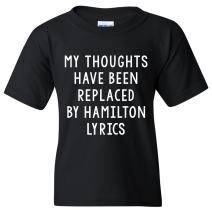 UGP Campus Apparel My Thoughts Have Been Replaced by Lyrics Youth T-Shirt