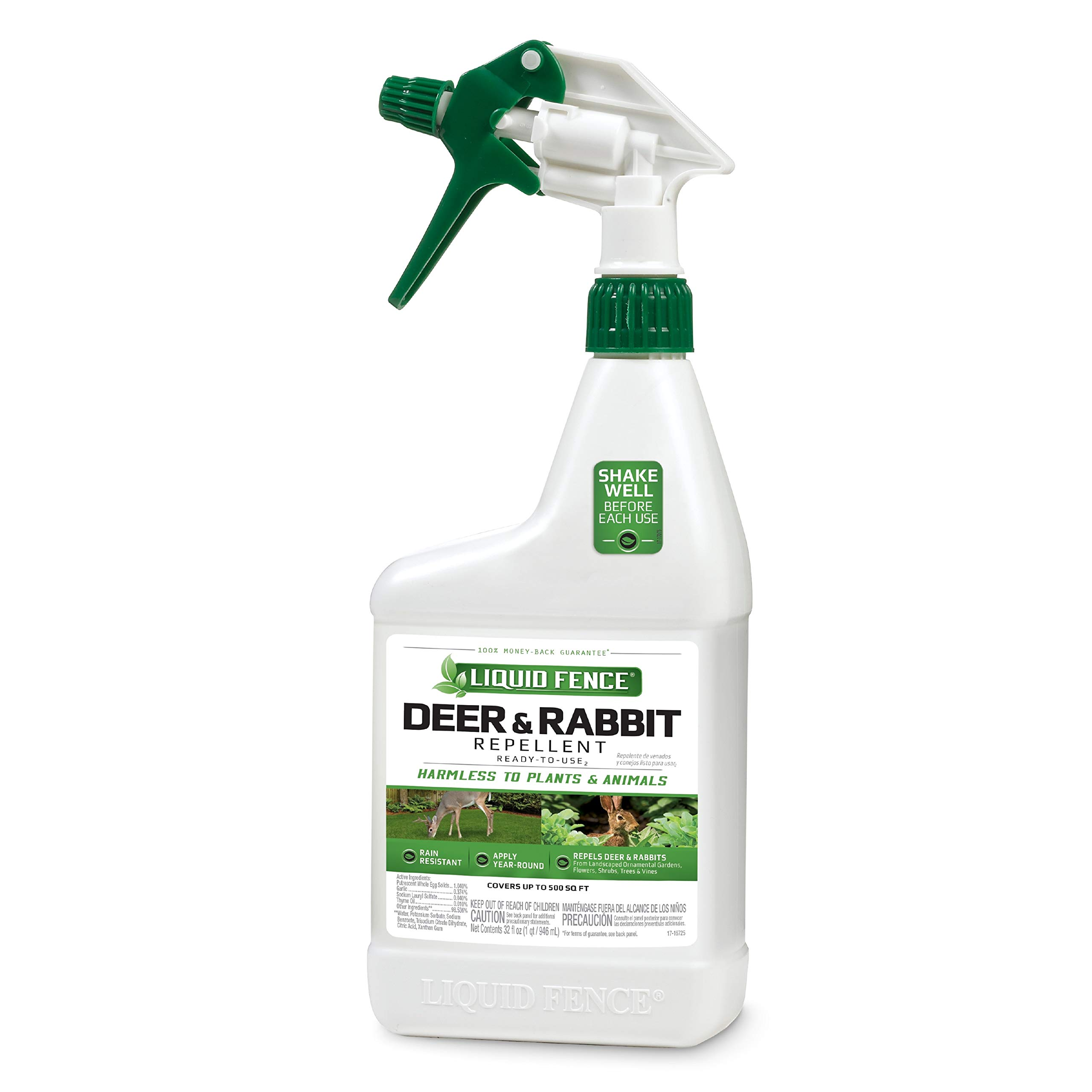 Liquid Fence Deer & Rabbit Repellent Ready-To-Use, 32-Ounce, 6-Pack