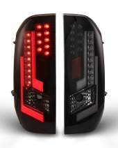 LED Tail lights Fit for 2014-2020 Toyota Tundra Tail Lamps with Black Housing Smoke Lens 2PCS AUTOWIKI