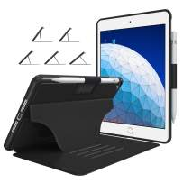 """Soke Case - iPad Air 3 Case 10.5"""" 2019 (3rd Generation), [Luxury Series] Extra Protective But Slim Cover with Pencil Holder and Strong Magnetic, 5 Convenient Stand Angles, Auto Sleep/Wake, (Black)"""