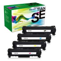 TIANSE Remanufactured Toner Cartridge Replacement for HP 304A Canon 118 MF8580CDW MF8350CDN MF726CDW LBP7660CDN HP Color Laserjet Pro MFP M476dw M476dn Printer Ink (Black Cyan Yellow Magenta, 4-Pack)
