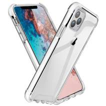 ROYBENS iPhone 11 Pro Max Case Clear, Shockproof Bumper Protective Case, Military Grade Non-Scratch Hybrid Cover Heavy-Duty Silicone PC Hard Shell for 6.5 Inch iPhone 11 Pro Max 2019, White+Clear