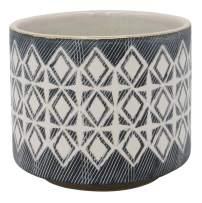 """Amazon Brand – Rivet Geometric Ceramic Planter Pot, 4.1""""H, Black"""