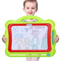 KINGSDRAGON Magnetic Drawing Board Large Erasable Writing Painting Sketch Pad with 4 Stencils,Portable Magna Doodle Board Educational Learning Toy for Kids Toddler Boys Girls Birthday Gift