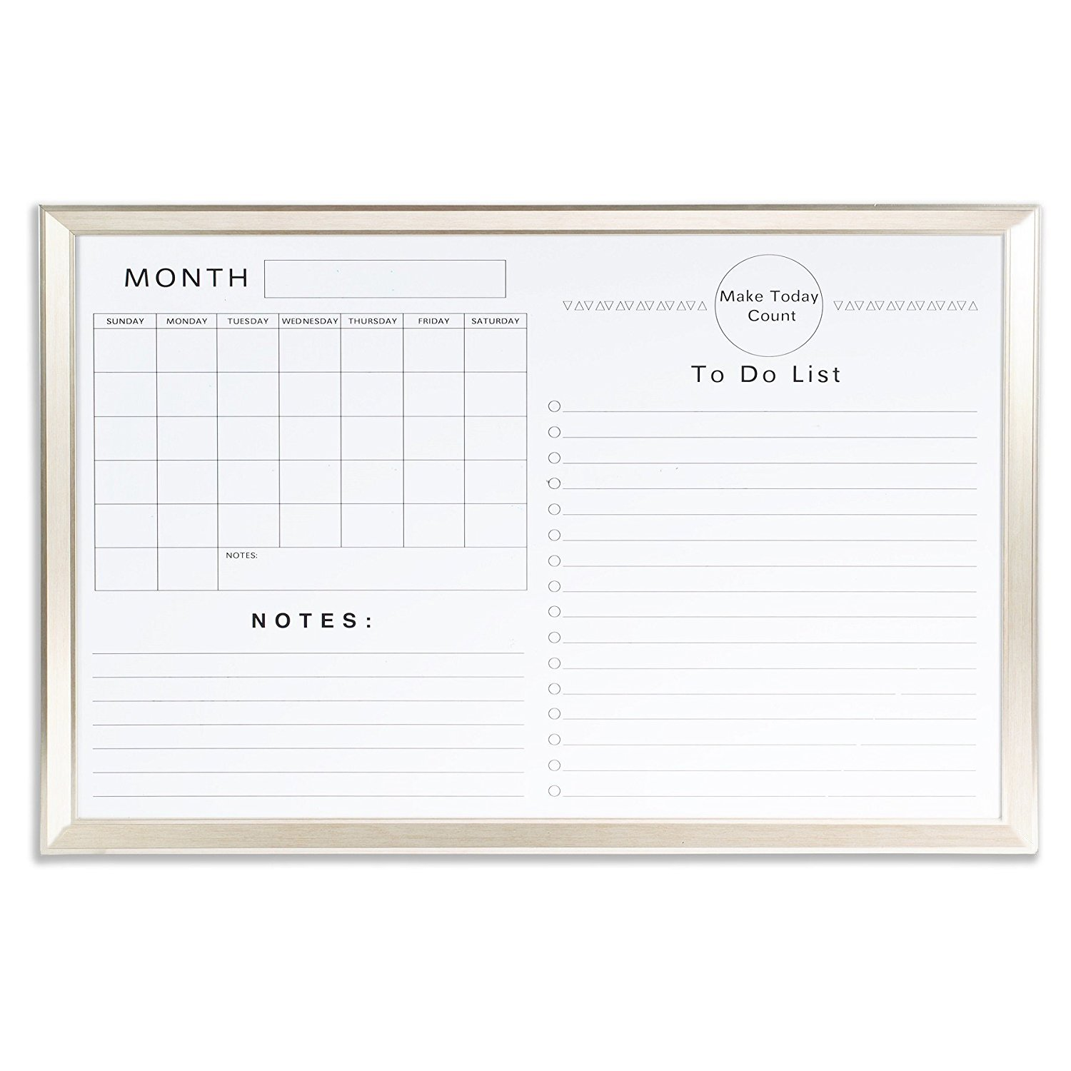 VISTA 24 x 36 Inches Calendar Whiteboard Magnetic Dry Erase White Board for Monthly Planning