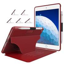 "Soke Case - iPad Air 3 Case 10.5"" 2019 (3rd Generation), [Luxury Series] Extra Protective But Slim Cover with Pencil Holder and Strong Magnetic, 5 Convenient Stand Angles, Auto Sleep/Wake, (Red)"