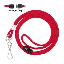 Mata1 Safety Lanyard (Red, 36 Inch, 100 Pack), ID Badge Lanyards in Bulk, Card Holder Detachable Lanyard