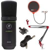 Mackie Element Series EM-91C Condenser Microphone with Deco Gear Boom Arm Bundle