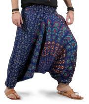 Mens Womens Yoga Wide Leg Boho Hippie Comfy Harem Pants - Mandala Style