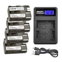 Turpow 4 Pack BP-511 BP-511A Replacement Battery Charger Set Compatible with Canon EOS 50D 40D 30D 20Da 20D 10D 5D 300D Digital Rebel D30 D60 PowerShot G6 G5 G3 G2 G1 Pro 1 Pro 90 Pro is