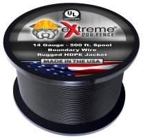 Extreme Dog Fence Ultimate Pure Solid Copper Core Spool - 14 Gauge Electric Dog Fence Boundary Wire - Rugged 44 MIL Polyethylene Insulation for All in-Ground Pet Containment Systems