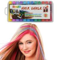 Hair Chalk Birthday Gifts For Girls - 12 Temporary Non-Toxic Easy Washable Hair Chalk Colour Pens | Makeup Kit For All Ages | Gifts for 8 Year Old Girls Gifts for 6 7 8 9 10 11 12 Year Olds
