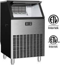 Tavata Commercial Ice Maker Machine, Makes 200 Pounds Ice in 24 hrs with 55 Pounds Storage Capacity, Freestanding/Built-in Design with Self Clean for Restaurants, Bars, Homes and Offices- Includes Sco