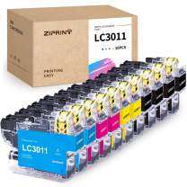 Ziprint Compatible Ink Cartridge Replacement for Brother LC3011 LC-3011 use with Brother MFC-J497DW MFC-J895DW MFC-J491DW MFC-J690DW (Black, Cyan, Magenta, Yellow, 10-Pack)