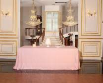 "PartyDelight Sequin Tablecloth, Rectangular, 60""x102"", Pink"