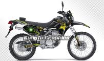Kungfu Graphics Custom Decal Kit for Kawasaki KLX 250S 2008 2009 2010 2011 2012 2013 2014 2015 2016 2017 2018 2019 2020, Black, Style 002